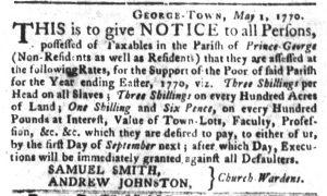Jun 5 - South Carolina Gazette and Country Journal Slavery 2