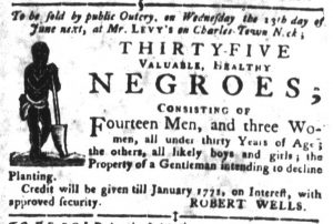 Jun 5 - South Carolina Gazette and Country Journal Slavery 4