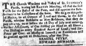 Jun 5 - South Carolina Gazette and Country Journal Slavery 5