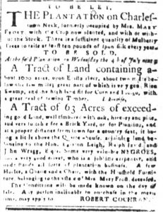 Jun 8 - South-Carolina and American General Gazette Slavery 3