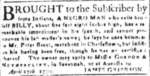 Jun 8 - South-Carolina and American General Gazette Slavery 9