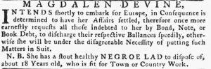 May 17 - Pennsylvania Gazette Slavery 2