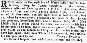 May 17 - Pennsylvania Gazette Supplement Slavery 2