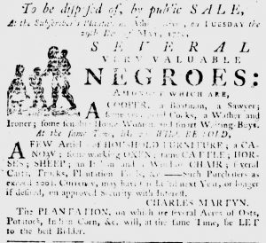 May 17 - South Carolina Gazette Slavery 1
