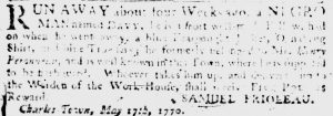 May 17 - South Carolina Gazette Slavery 2