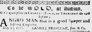 May 17 - South Carolina Gazette Slavery 3