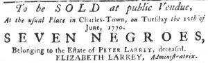 May 17 - South Carolina Gazette Slavery 5