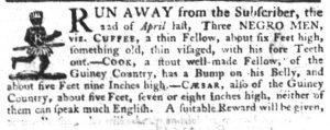 May 17 - South Carolina Gazette Slavery 8