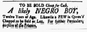 May 18 - New-Hampshire Gazette Slavery 1