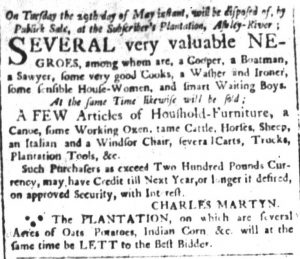 May 18 - South Carolina and American General Gazette Slavery 3