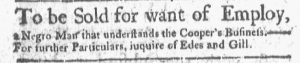 May 21 - Boston Gazette and Country Journal Slavery 2
