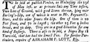 May 21 - New-York Gazette and the Weekly Mercury Slavery 3