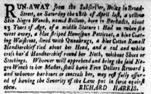 May 21 - New-York Gazette and the Weekly Mercury Slavery 4