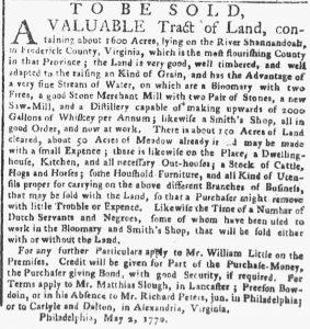May 21 - New-York Gazette or Weekly Post-Boy Slavery 1