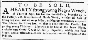 May 21 - New-York Gazette or Weekly Post-Boy Slavery 2
