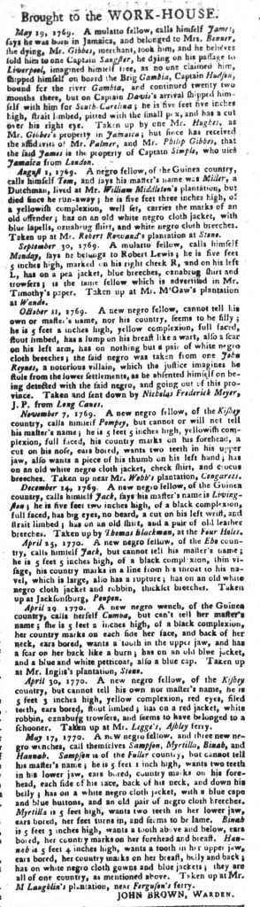 May 22 - South Carolina Gazette and Country Journal Slavery 10