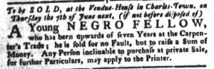 May 22 - South Carolina Gazette and Country Journal Slavery 6