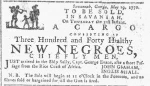 May 23 - Georgia Gazette Slavery 1