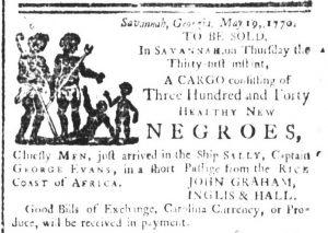 May 23 - South Carolina and American General Gazette Slavery 1