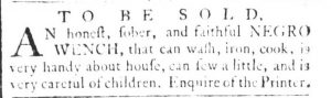 May 23 - South Carolina and American General Gazette Slavery 2