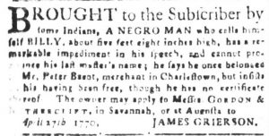 May 23 - South Carolina and American General Gazette Slavery 6