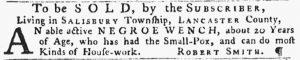 May 24 - Pennsylvania Gazette Slavery 1