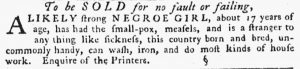 May 24 - Pennsylvania Gazette Slavery 2