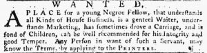 May 24 - Pennsylvania Gazette Slavery 3