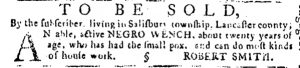 May 24 - Pennsylvania Journal and the Weekly Advertiser Slavery 1