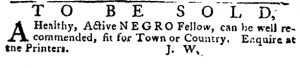 May 24 - Pennsylvania Journal and the Weekly Advertiser Supplement Slavery 2