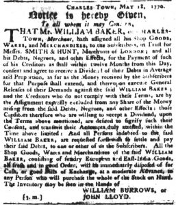 May 24 - South Carolina Gazette Slavery 1