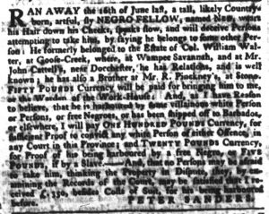 May 24 - South Carolina Gazette Slavery 11