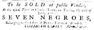 May 24 - South Carolina Gazette Supplement Slavery 1