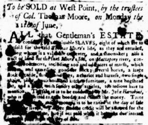 May 24 - Virginia Gazette Purdie and Dixon Slavery 1