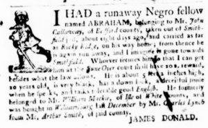May 24 - Virginia Gazette Purdie and Dixon Slavery 2