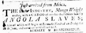 May 24 - Virginia Gazette Purdie and Dixon Slavery 3