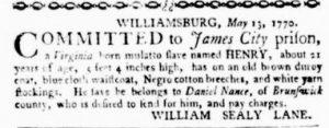 May 24 - Virginia Gazette Purdie and Dixon Slavery 5
