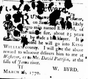 May 24 - Virginia Gazette Purdie and Dixon Slavery 9