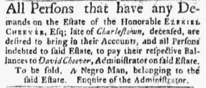 May 28 - Boston Evening-Post Slavery 1
