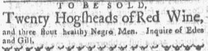 May 28 - Boston Gazette and Country Journal Slavery 1