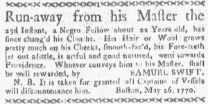 May 28 - Boston Gazette and Country Journal Slavery 2