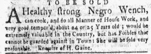 May 28 - New-York Gazette and the Weekly Mercury Supplement Slavery 5