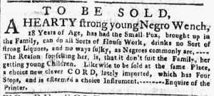 May 28 - New-York Gazette or Weekly Post-Boy Slavery 2