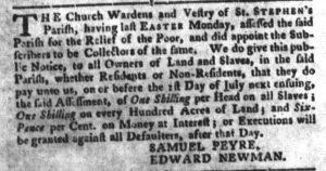 May 29 - South Carolina Gazette and Country Journal Slavery 1