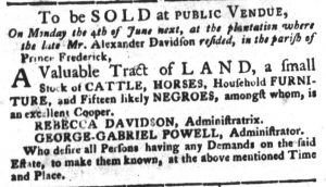 May 29 - South Carolina Gazette and Country Journal Slavery 2