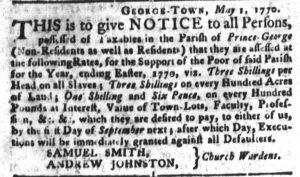 May 29 - South Carolina Gazette and Country Journal Slavery 6