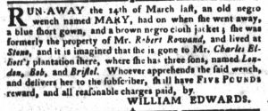 May 29 - South Carolina Gazette and Country Journal Slavery 8