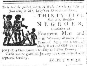 May 30 - South Carolina and American General Gazette Slavery 1