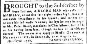 May 30 - South Carolina and American General Gazette Slavery 4