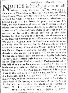 May 30 - South Carolina and American General Gazette Slavery 6